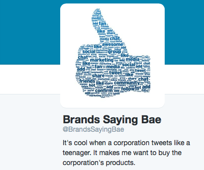 Brands Saying bae
