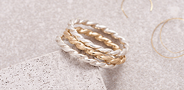Silver & Gold Twist Stacking Rings