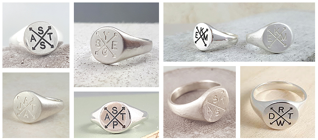 Family Initials Signet Ring