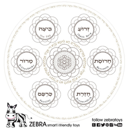 Happy Passover Streangth Mandala Coloring Page