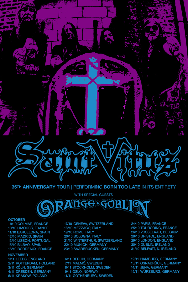 Saint Vitus tour admat