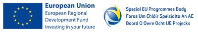 EU European Regional Development Fund and Special EU Programmes Body logos
