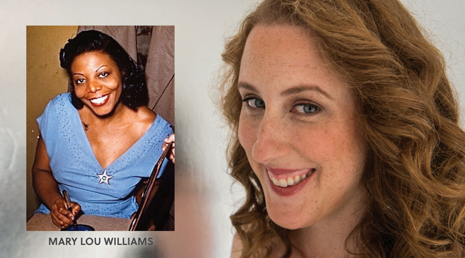 Headshots of Mary Lou Williams and Deanna Witowski