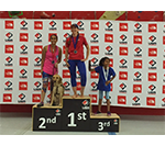 Picture of Raveena with bronze medal
