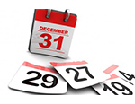 Picture of a calendar with the date December 31