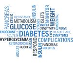Picture of words related to diabetes