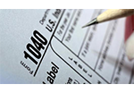 Picture of a 1040 tax form