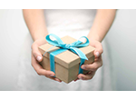 Picture of girl holding gift box