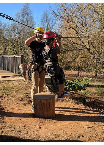Picture of STARS student ziplining