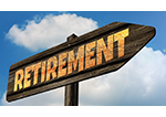 Picture of an arrow that says retirement