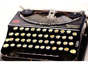 Picture of a Remington Portable Typewriter