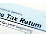 Picture of a tax return