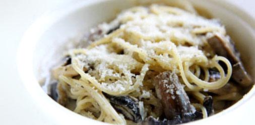 Edamame Mixed Mushroom Carbonara
