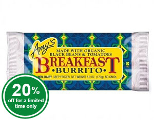Organic Breakfast Burrito (raw)