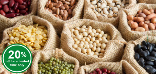 20% OFF USDA Top Grad Lentils, Beans and Legumes