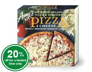 Organic 4 Cheese Pizza (raw)