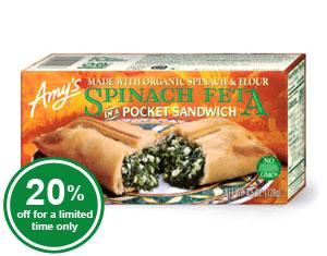 Spinach Feta Pocket Sandwich