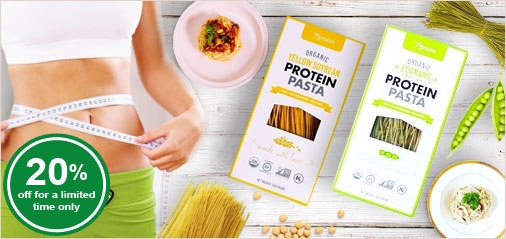 Reminder: 20% Off New Low Carb, Organic Protein Pasta Ends Soon!