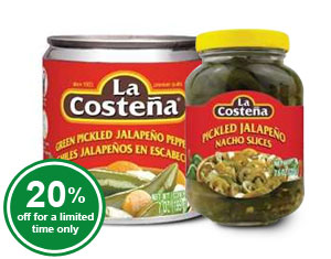 Pickled Jalapeno Slices & Whole Pepper - La Costena