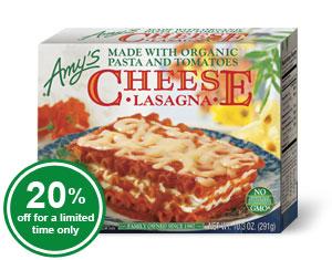 Organic Cheese Lasagna