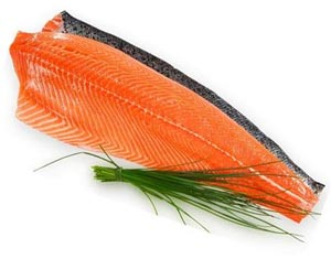 Imported Whole Atlantic Salmon Fillet, Skin-on