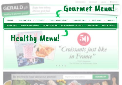 Menu Gerald Homepage