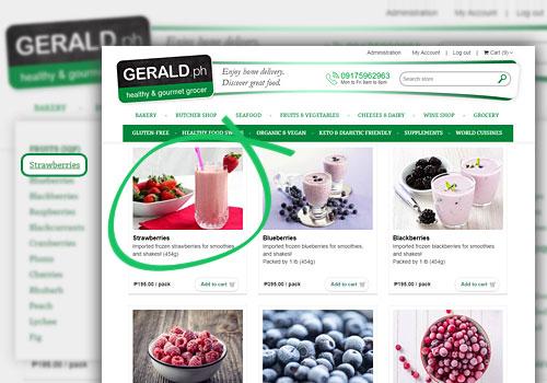 Menu Gerald Homepage extended