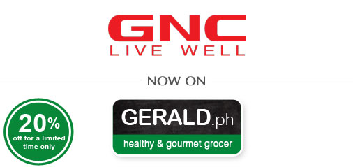 Get 20% OFF: GNC now at GERALD.ph! Multivitamins, Probiotics, Fish Oil and more