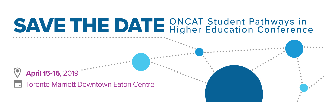 Save the Date: ONCAT conference April 15-16, 2019 at the Toronto Marriott Downtown Eaton Centre Hotel