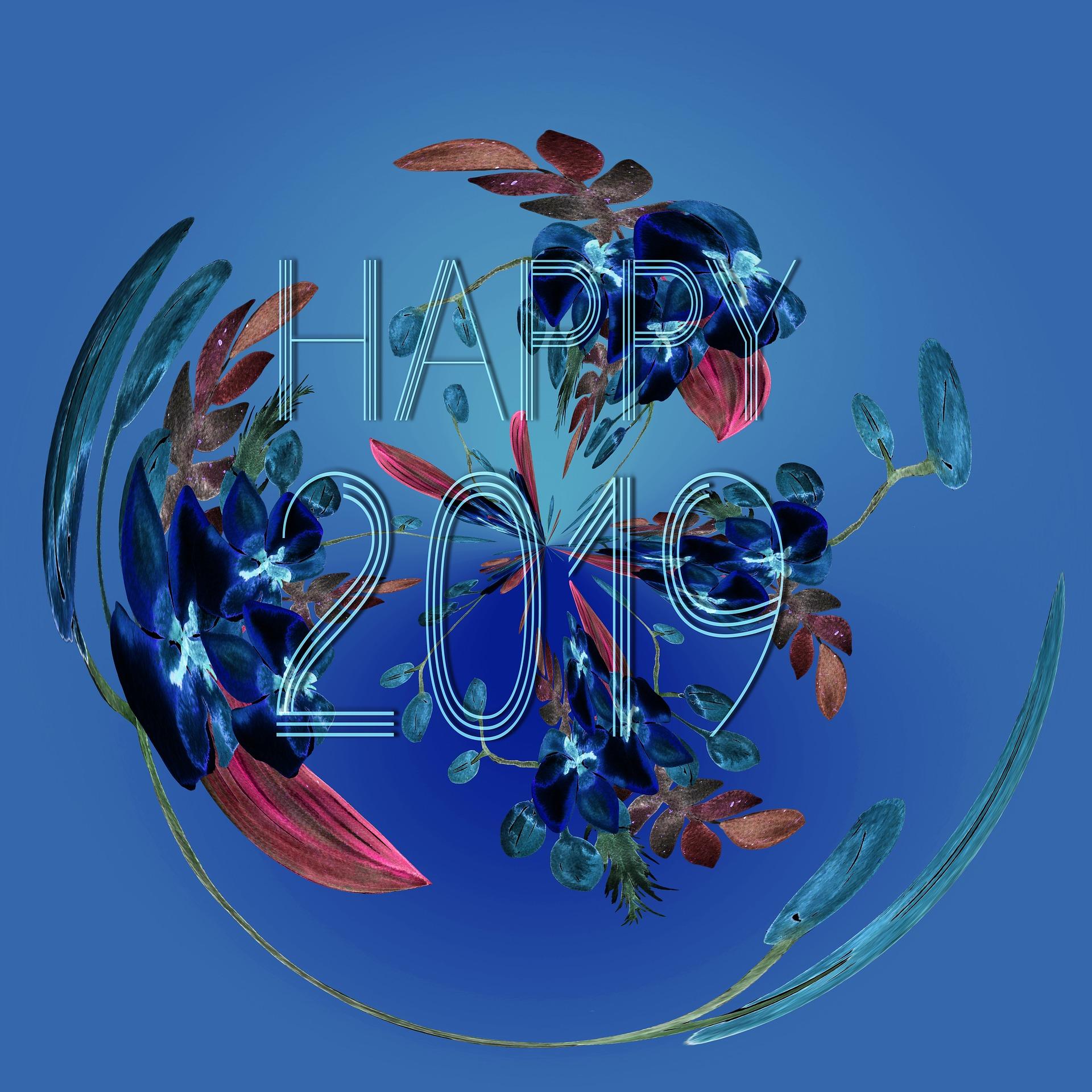 Happy 2019 - Free image by Pixabay.com