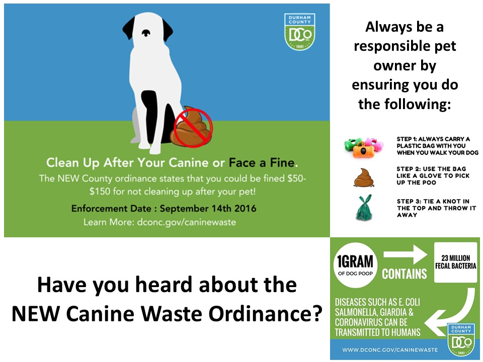 Canine Waste Ordinance