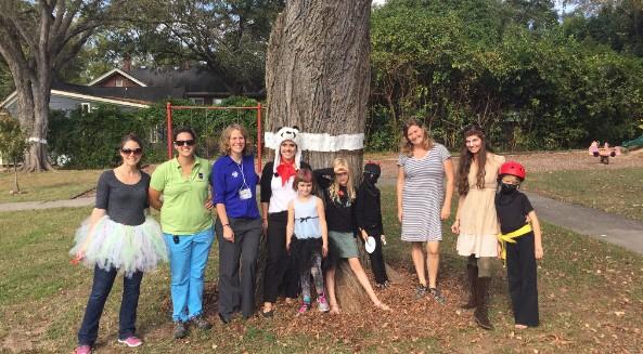 Halloween Cankerworm Tree Banding