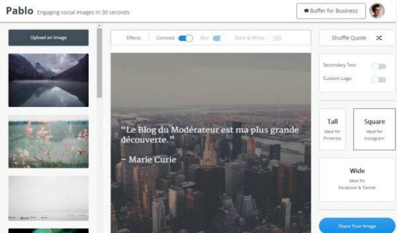Pablo 2.0 pour des images réseaux sociaux aux bonnes dimensions