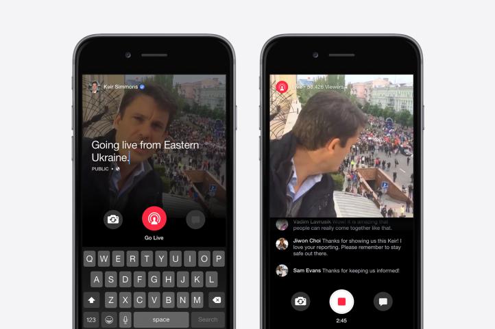 Vidéo : Facebook vs. Periscope