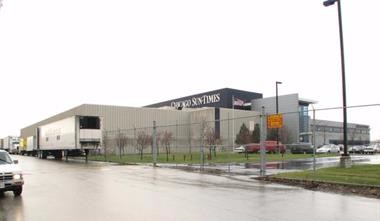 Photo of the former Sun-Times printing plant