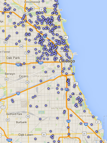 Locations of solar / photovoltaic panel related permits issued between 2006 and Dec. 2015