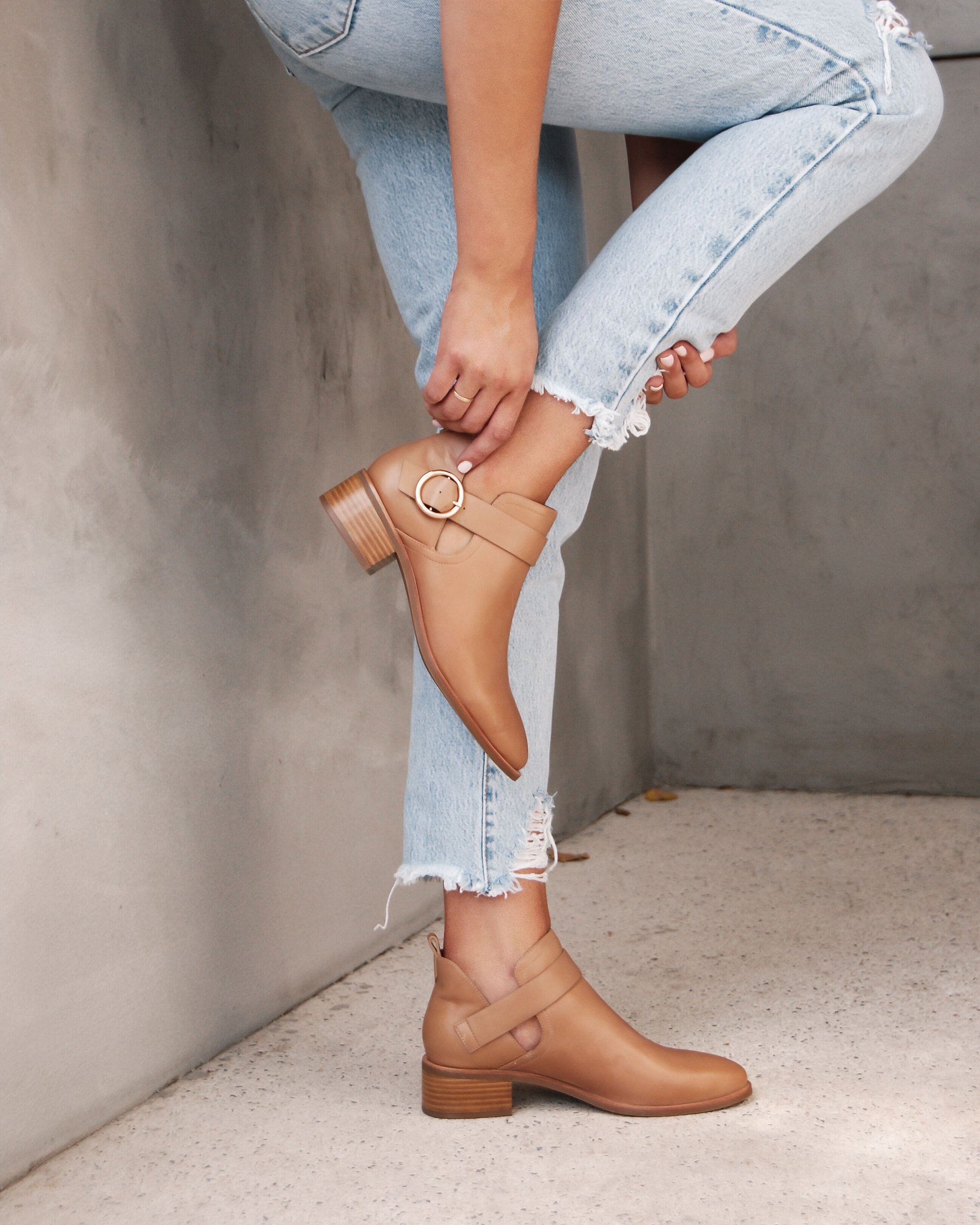 Arlo Ankle Boots Tan