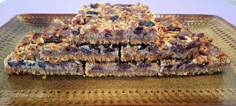 Dark Chocolate Cherry Cookie Bars