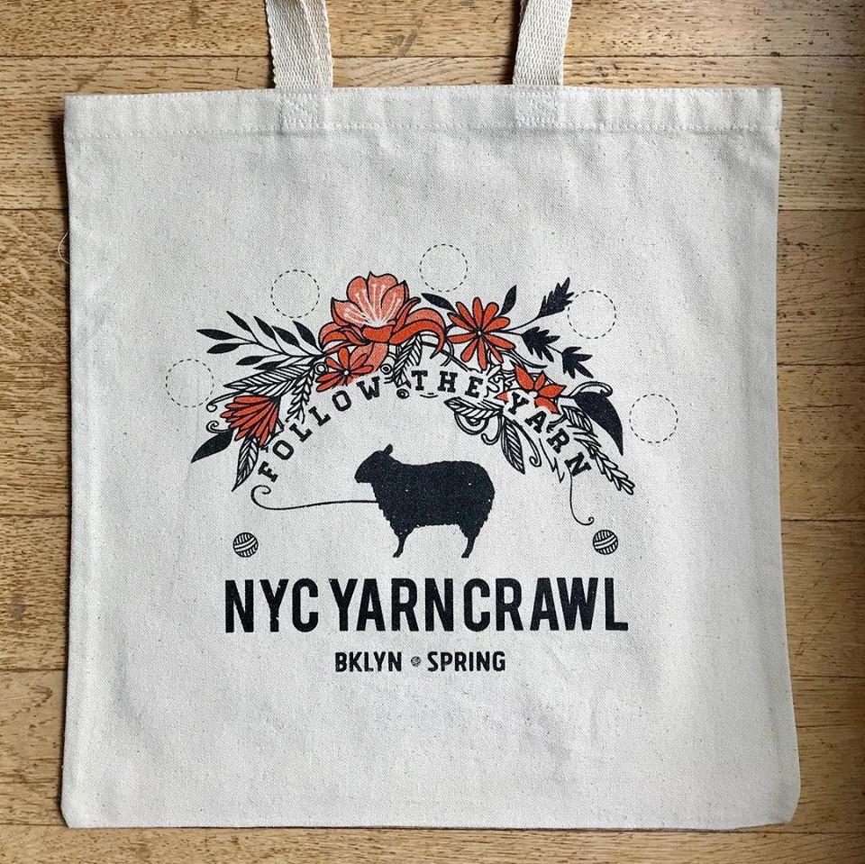 Brookyln Yarn Crawl Tote Bag