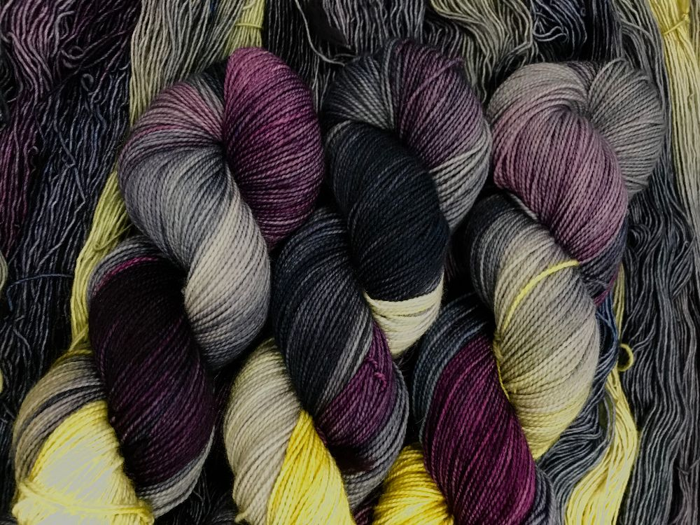 Murky Depths Yarn in exclusive Woolyn It Be Loverly color