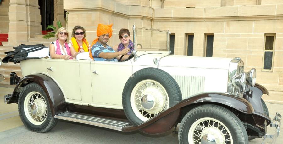 Royal palace car in India