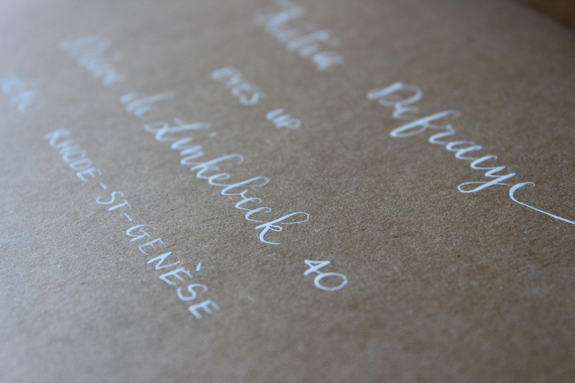 Kalligrafie-enveloppen