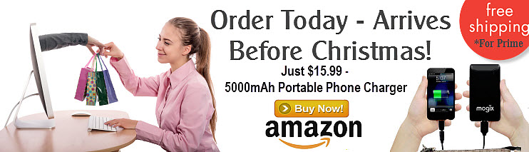 Order Today - Arrives Before Christmas - Portable Phone Charger For Just $15.99