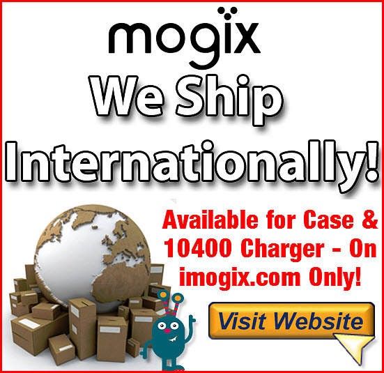 Mogix Portable Charger Now Ships International
