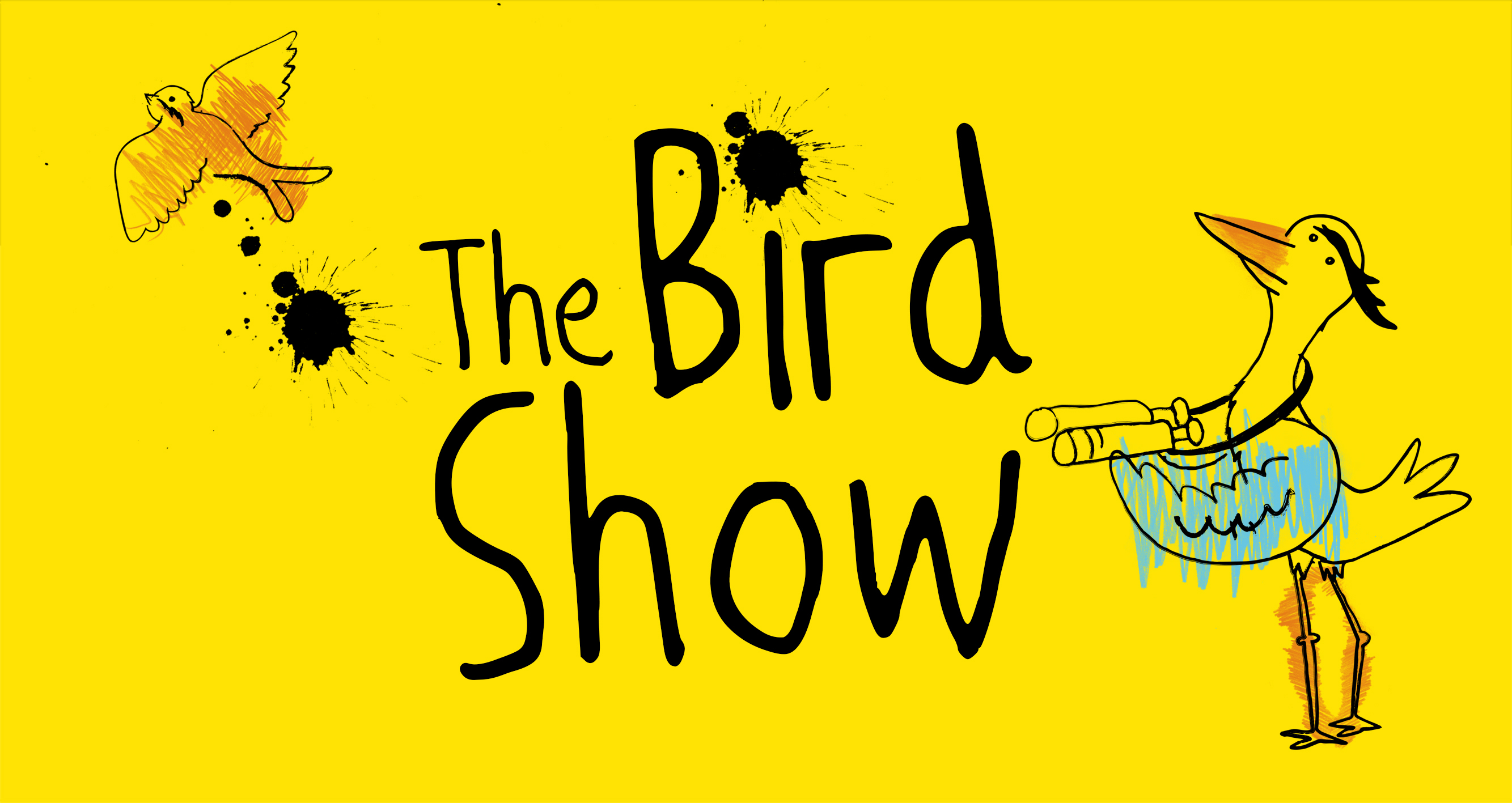Cartoon bird with The Bird Show title