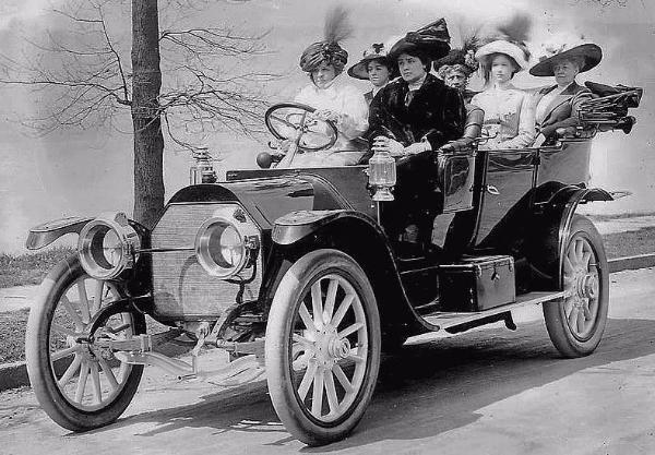 A circa 1910 Alco seven passenger touring car