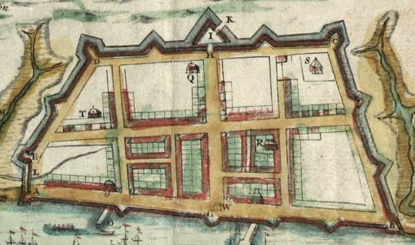 """""""A Plan of Charles Town from a Survey of Edwd. Crisp in 1704"""" (1711, Edward Crisp)"""