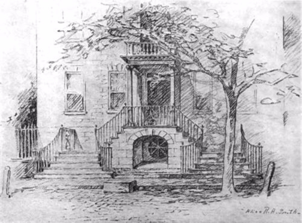 15 Meeting Street, Charleston, SC sketch by Alice R. Huger Smith