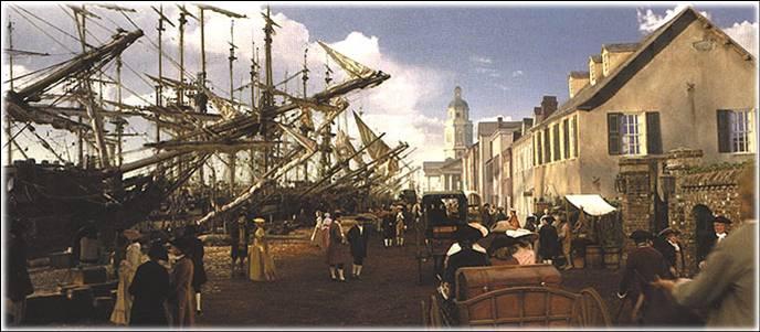 Charles Town Wharf 1700s