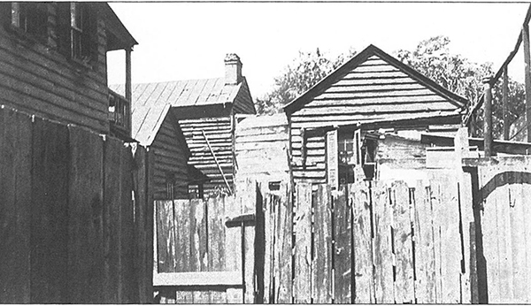 Slums behind Ashley Hall, Charleston, SC, circa 1935